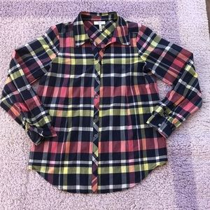 JOIE plaid buttons down